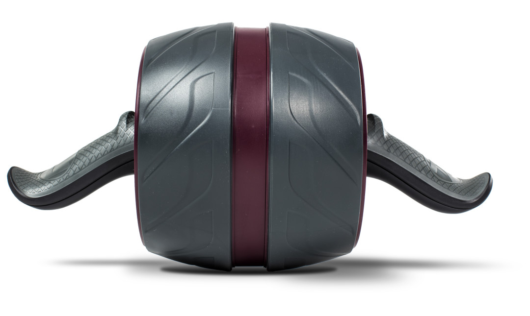 Front view close up of Perfect Fitness Ab Carver ab roller showing tread and handles
