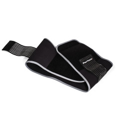 Black Perfect Core Support belt on white background showing grey lining and adjustable strap